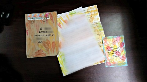 Autumn themed mail art from my pen-pal in Malaysia.